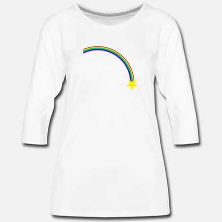T-shirt 3/4-ärm Dam
