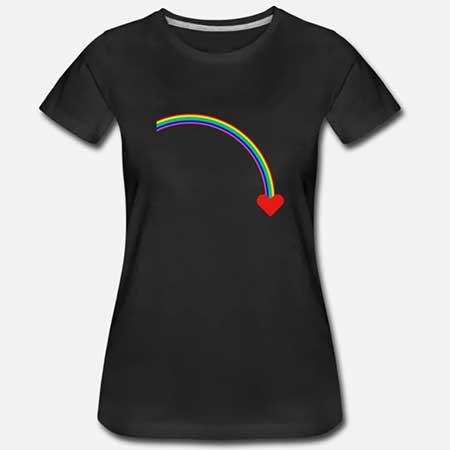 T-shirt Bomull Dam fler färger och motiv