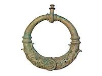 Dörrkläpp, 30 cm, antikgrön, i brons