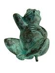 Fontän, groda, i brons, 15 cm, liggande pä' rygg
