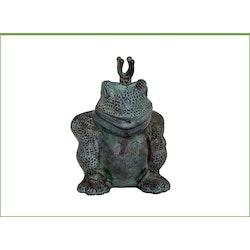 "Fontängroda i brons, ""Ugly frog"", 22 cm, med krona"