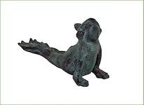 "Fontän groda i brons, ""streching frog"", 16 cm"
