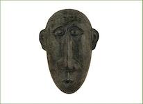 Väggfontän, mask, i brons