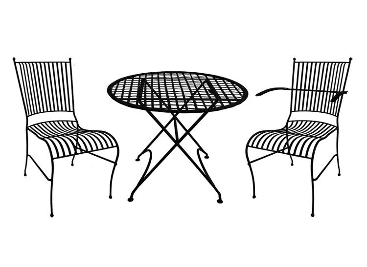 Bord i smide, MÖRKGRÖNT, runt, 76 cm från Mr Fredrik