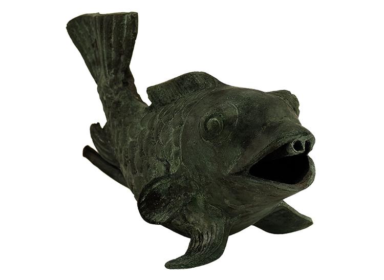 """Fisk fontän i brons, 16 cm, som vi kallat """"Glada fisken"""""""