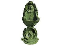 Fontän, vägg, med stöd, gjord i brons