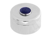 Ask i tenn, med sten i lapis lazuli på locket från Munka Sweden