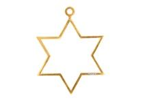 Julpynt - STJÄRNA - för gran eller fönster handgjuten i tenn och förgylld med 24 karat guld, stämplade Munka