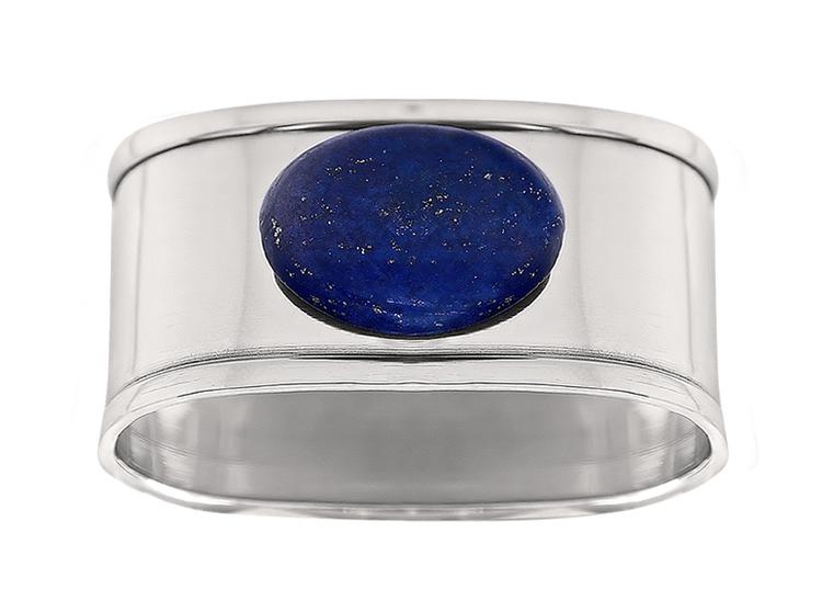 Servettring med Lapis lazuli sten