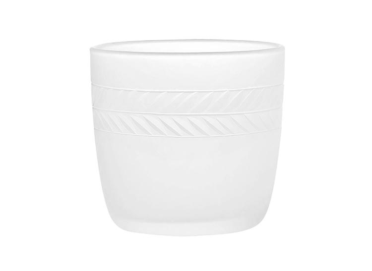Lagerkrans, ljuslykta i frostat handgraverat glas, från Munka Sweden