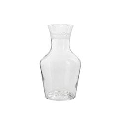 Lagerkrans, handgraverad karaff i glas, från Munka Sweden