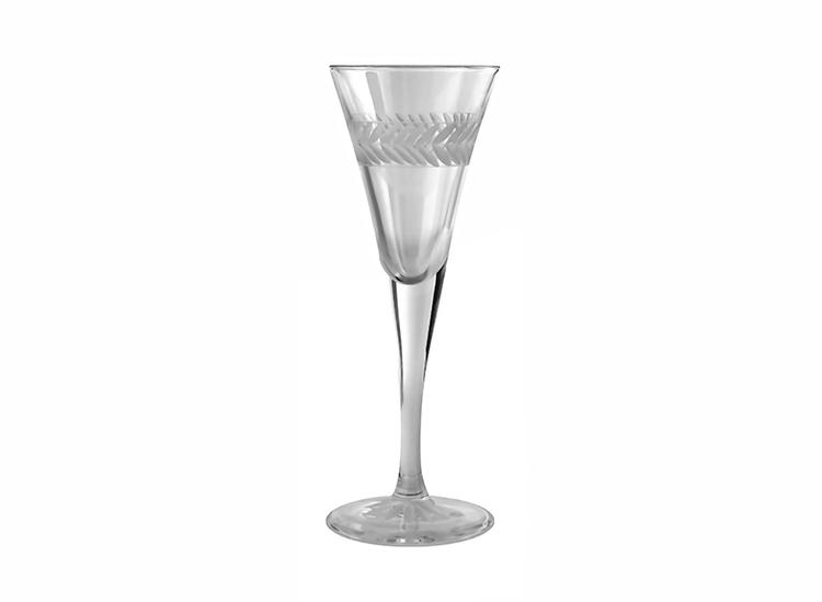 Lagerkrans, handgraverade snapsglas, från Munka Sweden