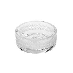 Lagerkrans, handgraverat saltkar i glas, från Munka Sweden