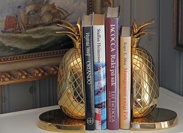 Bokstöd, ananaser, 22 cm