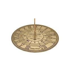 Solur, 25 cm diameter i polerad mässing