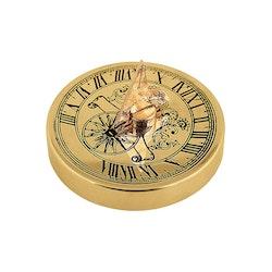 Solur, mini, 5 cm i diameter, polerad mässing