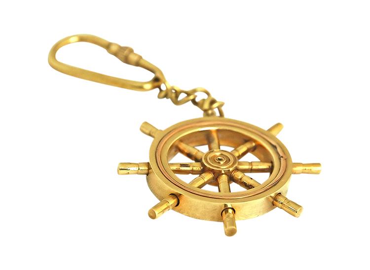 Nyckelring med skeppsratt