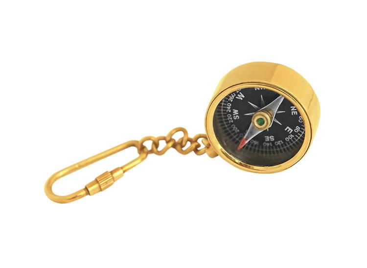 Nyckelring med kompass, svart bottenplatta