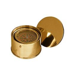 Kompass, rund, i solid mässing