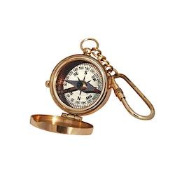 Kompass med lock, nyckelring