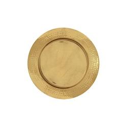 Kuverttallrik i mässing, hamrad, diameter 30 cm, från Gusums Messing