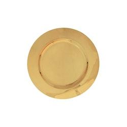 Kuverttallrik i mässing, slät, diameter 30 cm från Gusums Messing