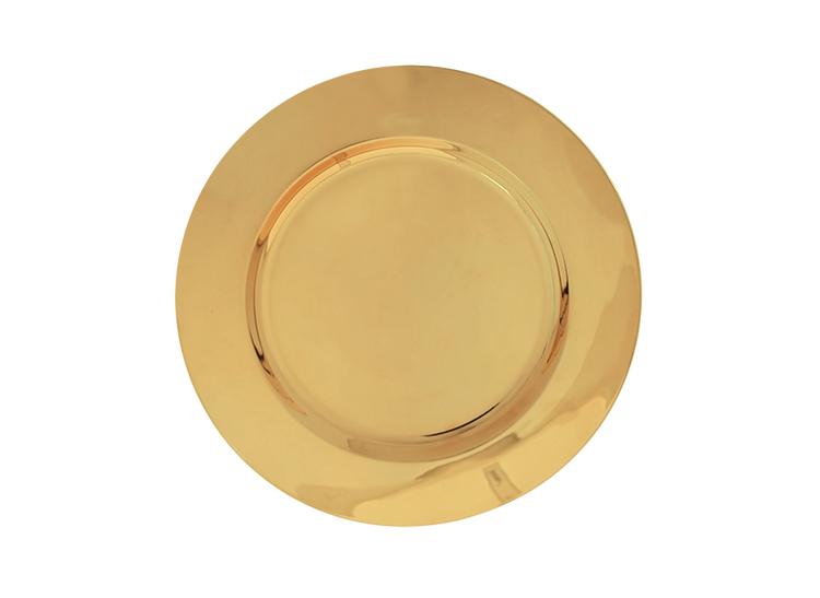 Litet fat i mässing, diameter 15 cm från Gusums Messing