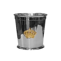 Champagnekylare eller blomkruka med krona i mässing