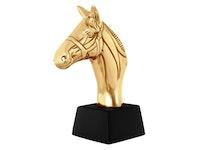 Bokstöd eller skulptur i form av hästhuvud