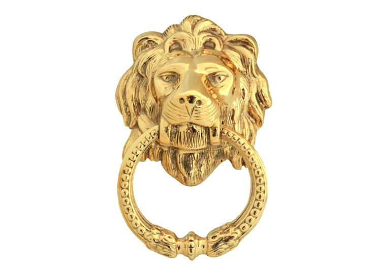 Dörrkläpp i form lejonhuvud, större