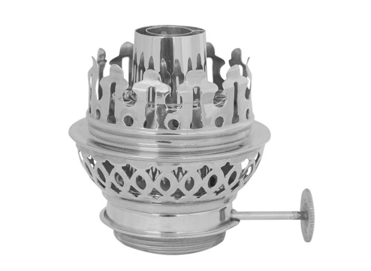 Brännare till olje-/fotogenlampa i nickelpläterad mässing