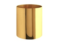 Vas, mässing, cylindrisk, 10 x 9,4 cm