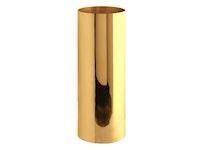 Vas, mässing, cylindrisk, 18 x 7,5 cm
