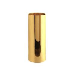 Vas, mässing, cylindrisk, 14,4 x 12,5 cm