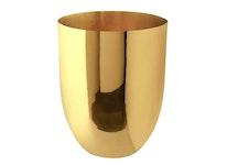 Vas, rund, i mässing, 20 x 15 cm från Gusums Messing