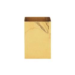 Vas, fyrkantig, mässing, 13,8 x 10 cm