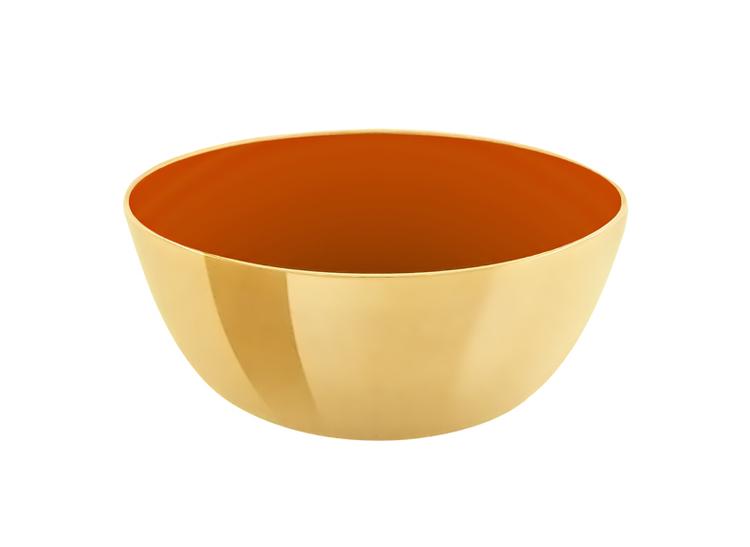 Skål i mässing, emaljerad orange, 7 cm i diameter