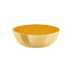 Skål i mässing, emaljerad gul, 4,5 cm X 1,6 cm