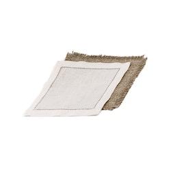 Mellanlägg till kuverttallrikar, lin, natur, 20x20 cm, från Munka Sweden
