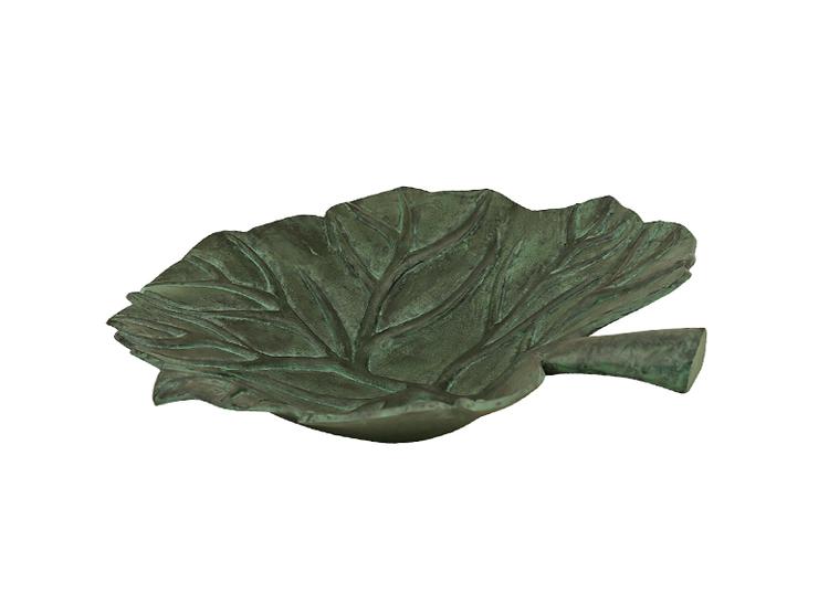 Fat, större, för fontän, bladformat, gjort i brons