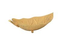 Fat, handmålad plåt, 42,5 cm, hårdlackat, guldgult
