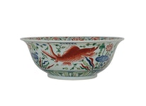 Skål, fiskar, d 40 cm, h 17 cm