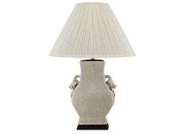 Lampfot i porslin, 30 cm, med handtag som granaträpplen