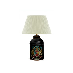 Lampa 36 cm, vapen i handmålad, i plåt