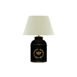 Lampa, oval, större, med humla i plåt, 55 cm