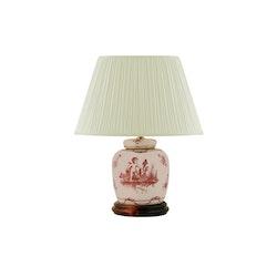 Lampfot i porslin, 17,5 cm, rosa änglar