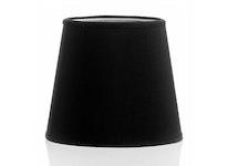 Lampskärm i svart chintz, 20 cm
