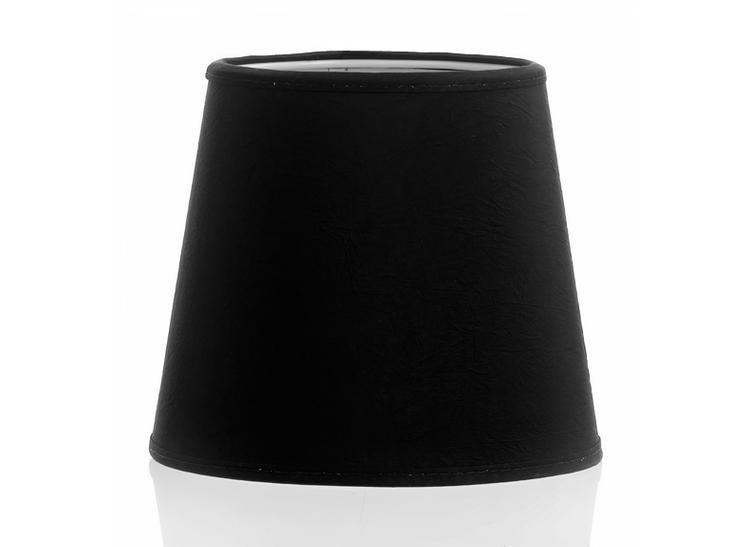 Lampskärm i svart chintz,15 cm i diameter