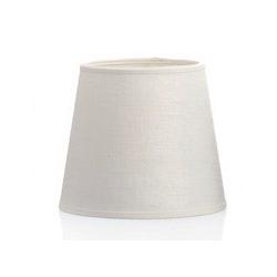 Lampskärm i benvitt linne,17 cm