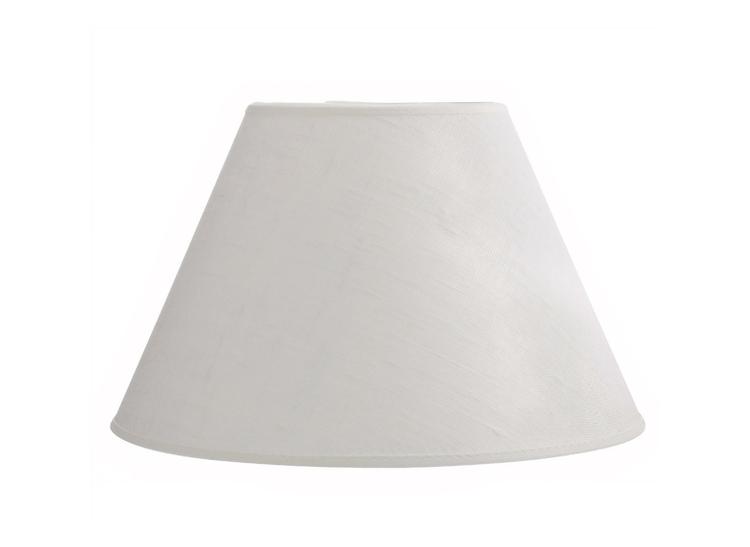 Lampskärm i benvitt linne,18,5 cm